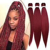 Extensiones de cabello para coletas Mujeres Niñas Trenza Tr