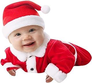 7c43e92c69b4d Kolylong Costume Deguisement de Père Noël hvier Unisexe Manteau Enfants  Bambin bébé Filles garçons Tenue +