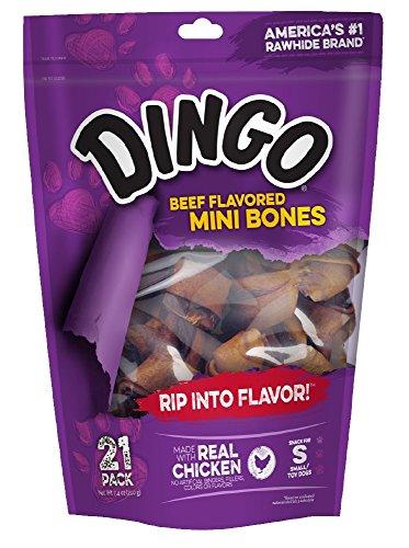 Dingo Beef Flavored Mini Rawhide Bones