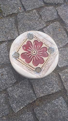 Pflasterstein aus Keramik Blume