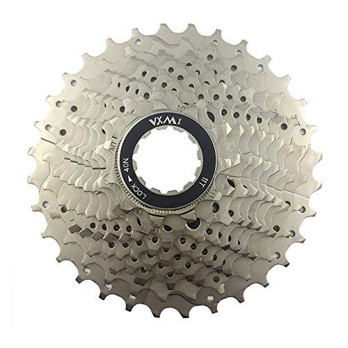 Tucke Vxm 10 vitesses cassettes à roue libre 11–32T Large noirs en acier Argenté VTT Pignon de vélo pièces de rechange pour Shimano SRAM