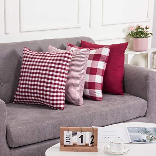 Jazz - Federa per cuscino, motivo a quadri di bufalo, motivo a quadri, per esterni, per auto, divano, letto, divano, 4 pezzi, 40 x 40 cm, 4 pezzi
