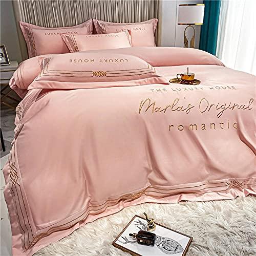 juegos de sábanas de 90,Seda de hielo seda de cuatro piezas seda de cuatro piezas seda seda sed shuces sed seda continental seda estudiante dormitorio ropa cama día de la madre regalo-Di_1,8 m de cam