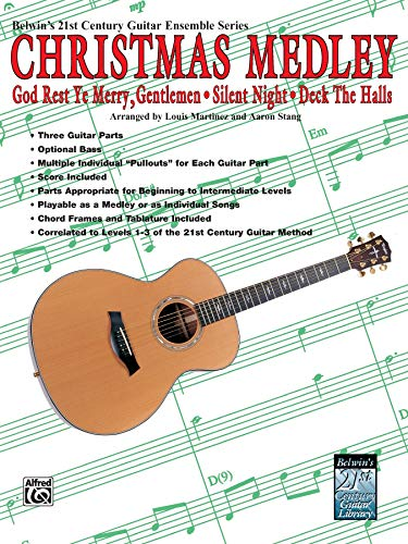 Belwin's 21st Century Guitar Ensemble -- Christmas Medley: Score & Parts