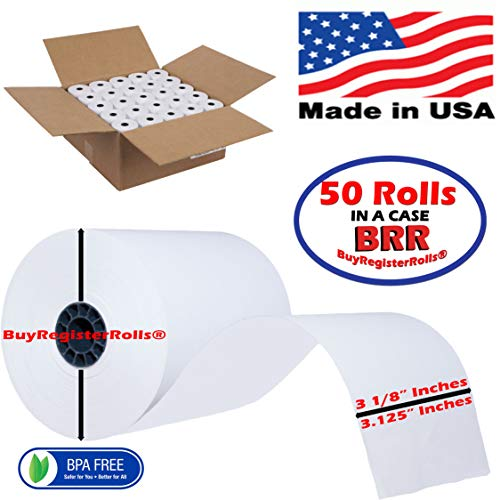 PrePrinted New 3 1/8 x230 Thermal Paper roll 50 Pack bpa Free Clover Station tp-3230 Star tsp100 M224A TM-T88V TSP 143IIU ECO Ruby Sapphire - Cash Register Department Stores Restaurant Supermarket