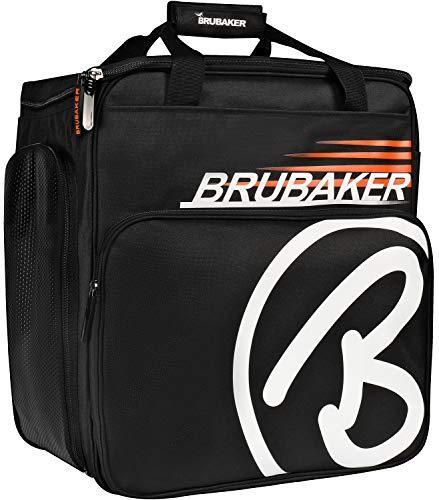 BRUBAKER 'Super Champion' - Sac à Chaussures de Ski, Sac Casque, Sac à Dos Ski - Noir/Orange