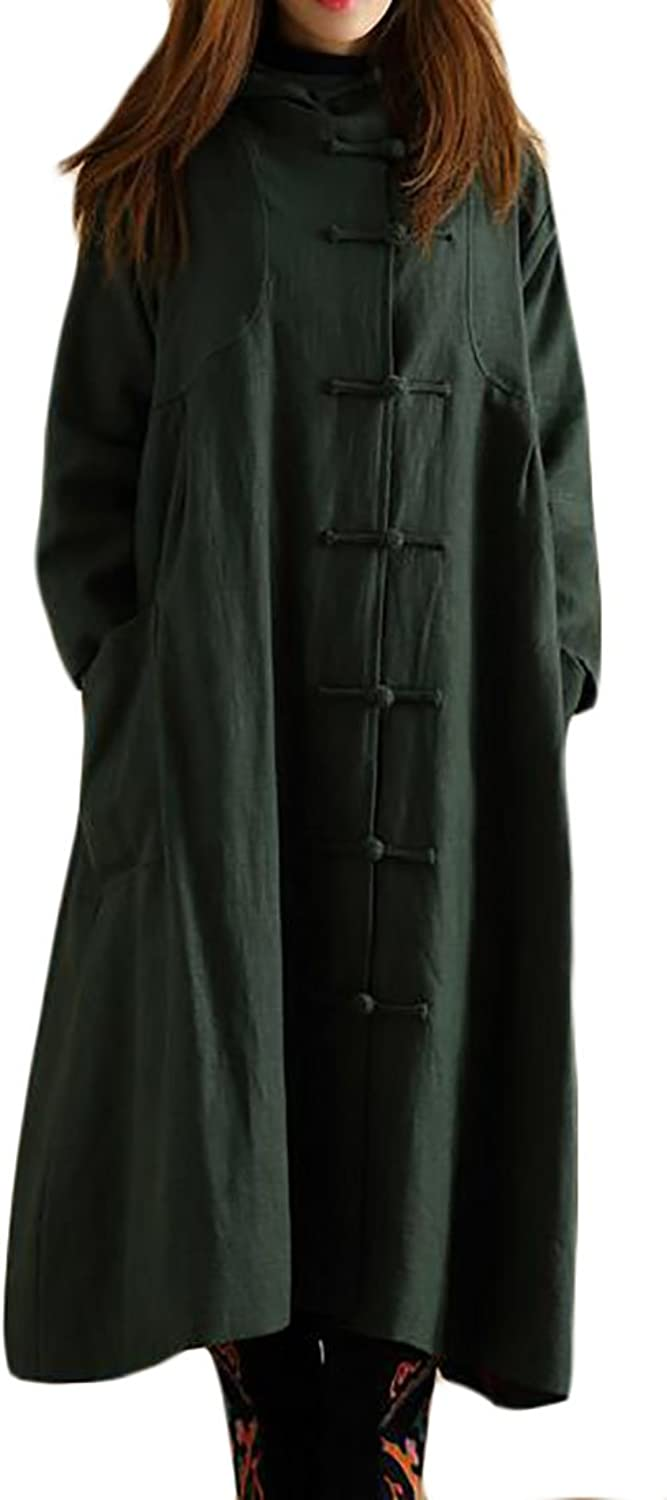 Pandapang Womens Ethnic Style Hooded Witch Coat Outwear Long Trench Coat