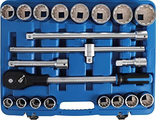 """BGS 1107   Juego de llaves de vaso   entrada 20 mm (3/4"""")   medidas en pulgadas   21 piezas"""