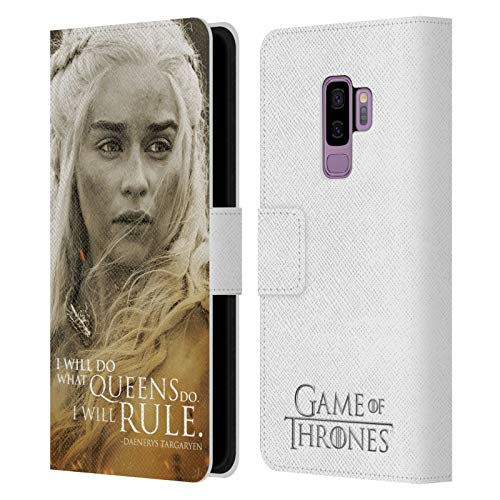 Head Case Designs Officially Licensed HBO Game of Thrones Daenerys Targaryen Character Portraits Leather Book Wallet Case Cover Compatible with Samsung Galaxy S9+ / S9 Plus