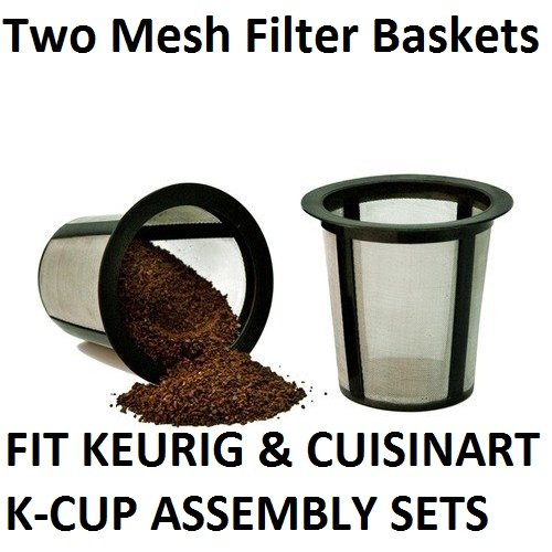2 X Keurig Cuisinart One All My Reusable Coffee FILTER BASKET REPLACEMENTS
