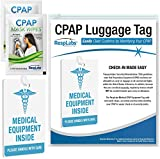 RespLabs CPAP Medical Device Luggage Tag - CPAP, BiPAP and Pap Travel Supplies.