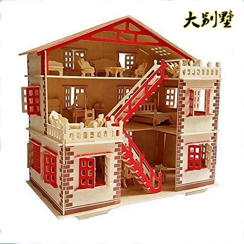 descuento online Simulación De Madera Villa Paquete Puzzle Puzzle Puzzle DIY Madera Collage Tridimensional Rompecabezas Puzzle Crafts  comprar nuevo barato