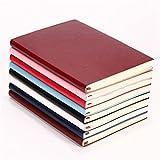 bobotron 6 colori casuali copertina morbida PU pelle taccuino scrittura giornaliera 100 pagine piene diario libro - 1 unità, colore casuale