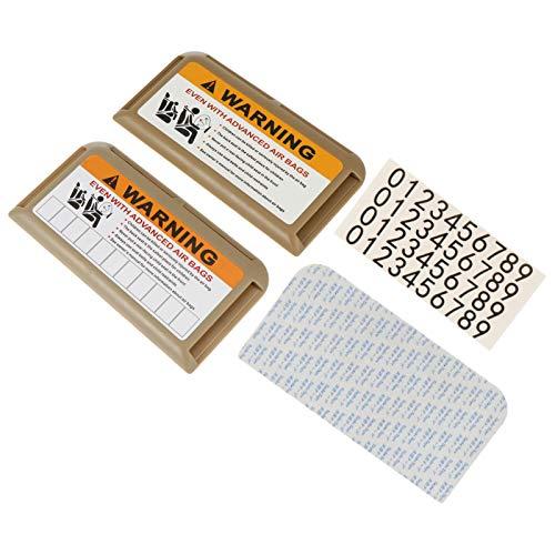 Veemoon 2 Piezas Organizador de Visera de Coche Accesorios de Automóvil Soporte de Documentos Gafas Organizador de Tarjetas de Crédito Accesorios Interiores de Automoción Beige