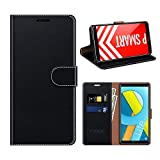 COODIO Funda Cuero Honor 9 Lite, Funda Huawei P Smart, Funda Cover Rugged Honor 9 Lite Case con Magnético/Cartera/Soporte para Honor 9 Lite/Huawei P Smart, Negro