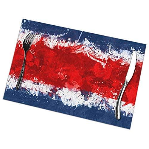 Juego de 4 manteles individuales con diseño de bandera de Suecia, resistentes al calor, lavables para decoración de cocina, comedor, 30,5 x 45,7 cm