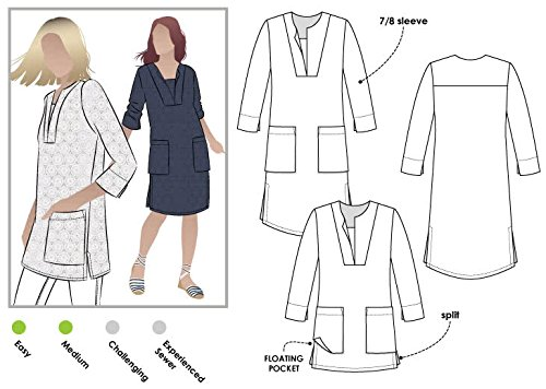 Stil Arc Schnittmuster–Roslyn Tunika Kleid, Sizes 04-16