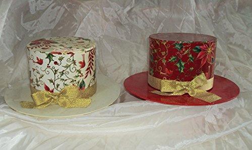 Centrotavola cappello con fiocco addobbi decorazioni Natale
