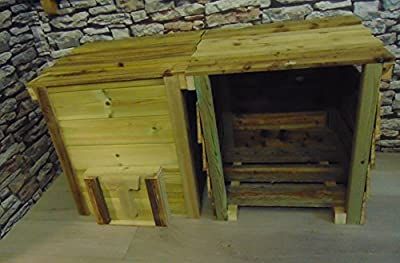 Smileswoodcraft Wooden Log Store and Coal Bunker Pair