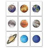 PGbureau Poster mit Planeten am Nachthimmel, Quecksilber,
