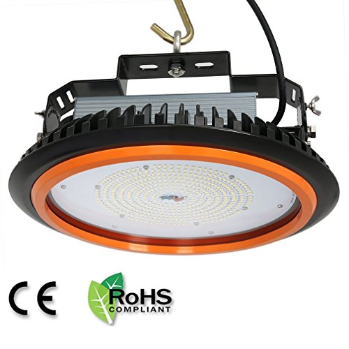 Anten UFO LED Hallenstrahler 200W Fluter Fabrik Hallenleuchte für Industriebeleuchtung, 28000LM, 120°Abstrahlwinkel, Kaltweiß Tageslichtweiß Hallenlicht 6000-6500K, TÜV-Zertifikat, 5 Jahre Garantie