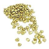 Brynnberg Dekosteine - Dekogranulat Kies Kieselsteine Flußkies gerundet (Gold, 4,5Kg)