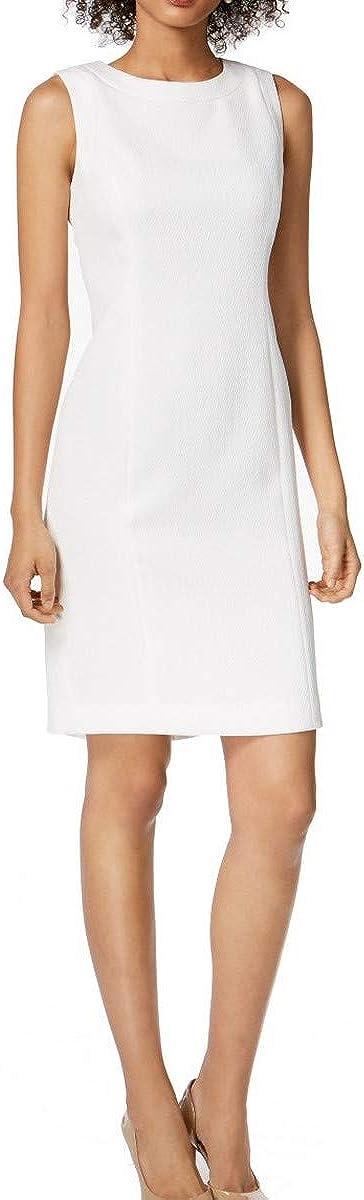 Kasper Women's Solid Diamond Jacquard Dress