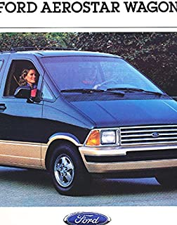 VERY COLLECTIBLE ORIGINAL 1988 FORD AEROSTAR WAGON FULL-COLOR SALES BROCHURE FOR FORD DEALERS - ALL MODELS - Includes The Eddie Bauer - ADVERTISEMENT