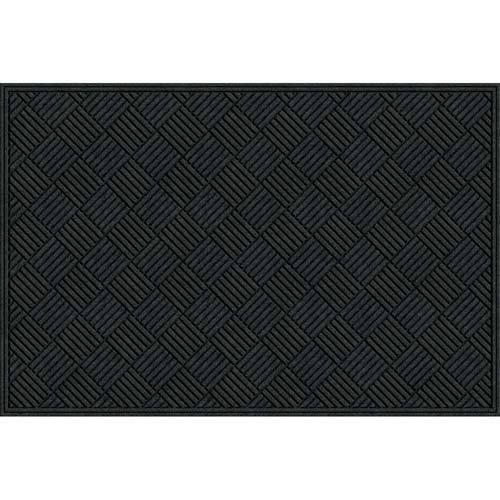 Apache Mills Textures Crosshatch Entrance Mat, 4-Feet by 6-Feet, Charcoal