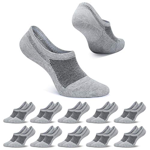 FALARY Calcetines Invisibles Hombre Gris 47-50 Calcetines Tobilleros Mujer Respirable...