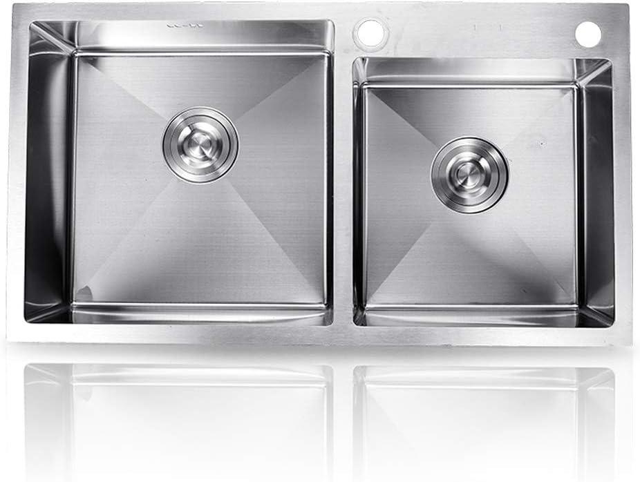 KITCHEN SINK Double Sink Kitchen Combin Accessories lowest OFFicial shop price Drain Square