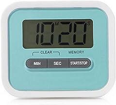 QWER 1pcs Ultrafina Digital LCD de Pantalla Temporizador de Cocina Cocina Cocina Gadget Cuenta Regresiva Cuenta Regresiva Fuerte Alarma del Reloj con el imán