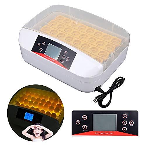 ZHUANFAFA 32 Incubadoras De Huevos, Control Automático De Temperatura, con Luz De Huevo, Sin Ruido, Gabinete Transparente, con Luz De Huevo, Fácil De Colocar