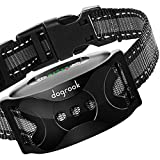 DogRook Rechargeable Dog Bark Collar - Humane, No Shock Barking Collar - w/2 Vibration & Beep - S, M, L Dogs Breeds Training - No Remote - 11-110 lbs