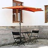 ガーデン傘、270Cm半円状の屋根傘/コートヤード半円日傘、ビーチパラソルガゼボ、オレンジになって