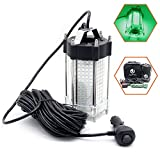 Jiawill Underwater Fishing LED Light 297 LEDs 9V-35V 41.8Watts 4000lumens Night Fish Attracting 33ft(10M) Cable (Green)