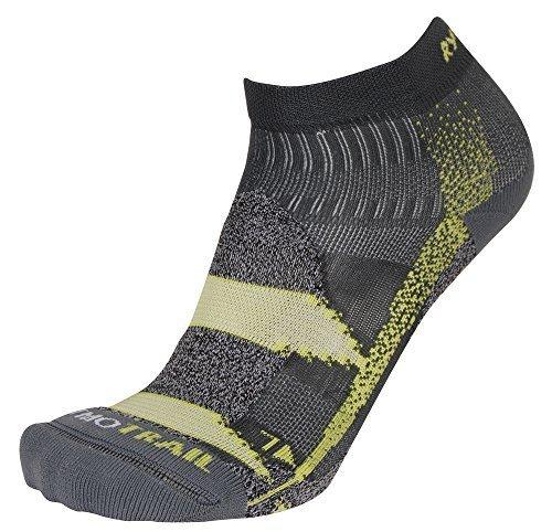 Rywan Atmo Trail climasocks – Chaussettes de Course différentes Couleurs Gris/Vert 38-40