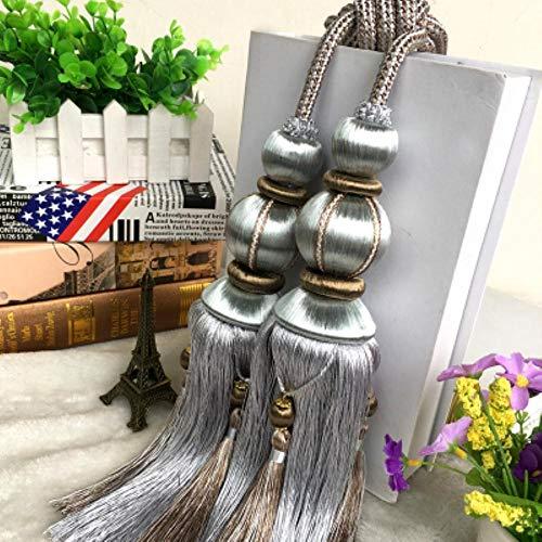 Piner Gordijn Touw dubbele bal gordijn gesp riem opknoping bal haak Kwasten Tie Backs Home Decor Gordijnen Accessoires, B
