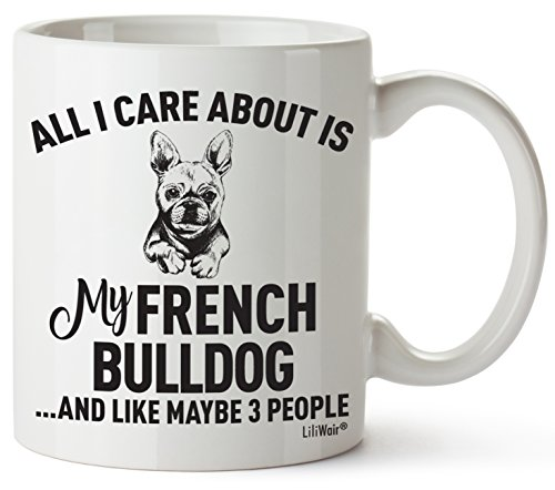 French Bulldog Mom Gifts Mug For Christmas Women Men Dad Decor Lover Decorations Stuff I Love French Bulldog Coffee Accessories Talking Art Apparel Funny Birthday Gift Products Dog Coffee Cup Mugs