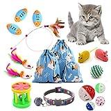 ZouWei Juguetes para Gatos, 20 Pcs Set di Juguetes para Gatos Interactivo Ratón, Juguetes para Gatos con Plumas y Bolas