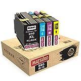 Matsuro Originale | Compatible Cartouches d'encre Remplacement pour HP 950XL 951XL 950 XL 951 XL (1 Set)