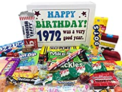 VINTAGE CANDY: Take a time machine back to your youth with a candy box full of 30 different popular confections from your childhood; a classic selection of old fashioned flavors HAPPY BIRTHDAY GIFTS: Perfect present to complement birthday cake and ot...