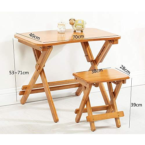 YNN Table Ordinateur Portable Table de Casse-croûte Maison Se Pliant TV en Bois Installation Libre Normale (Couleur : B, Taille : 70 * 40cm)