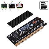 EZDIY-FAB Adaptateur PCIe NVME,Adaptateur M.2 NVME SSD vers PCI Express avec Prise en Charge du dissipateur de Chaleur