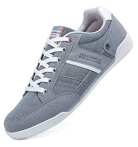TARELO Zapatillas Hombre Casual Sneaker Moda Deportivas Interior Zapatos Gimnasia Comodos Exterior Running Deportes Talla 41-46 (Gris, Numeric_42)