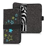 kwmobile Filz Tasche für Smartphones - mit Gummiband -