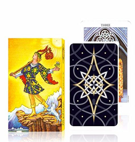 Reiter Tarot-Karten Deck Full English Version Klassische Divination Tarot-Qualitäts-Brettspiel