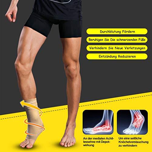 UONNER Sprunggelenk Bandage, Knöchelbandage, Fußbandage für Damen Herren Kompressionssocken Compression Socks Laufsocken für Sport Fitness - 3