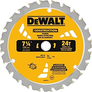 DEWALT DW3578B3 7.250 24T Framing Saw Blade Black, 3-Pack