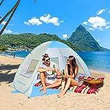 ZOMAKE Tenda da Spiaggia Automatica Pop-up Tenda da Sole Portatile istantanea con Protezio...